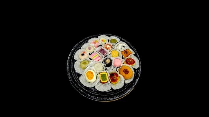 Assorted Mochi Platter 3D Model