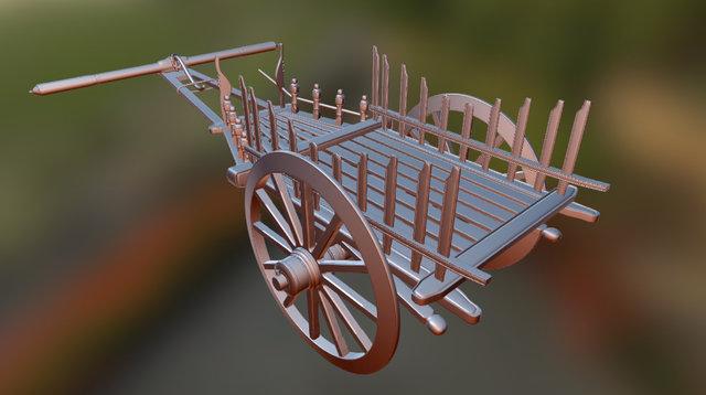 Myanmar_agriculture_cart 3D Model
