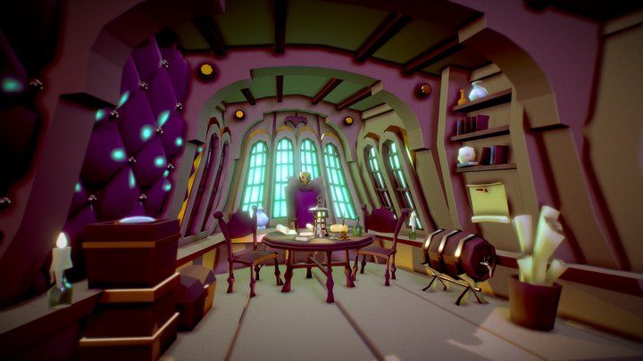 Captain's cabin 3D Model