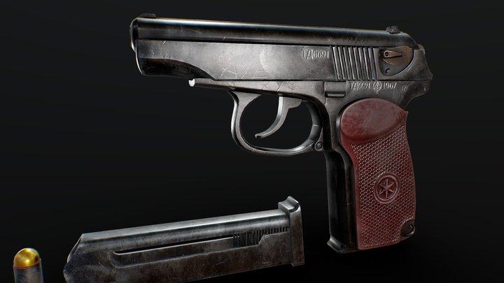 Makarov Pistol Handgun Free 3D Model