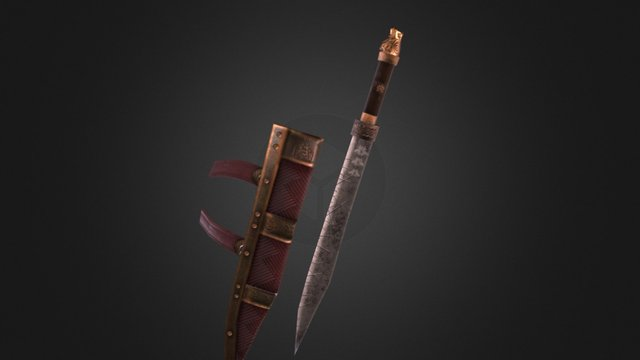Seax of Grimbeorn 3D Model