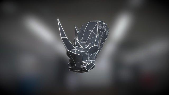 Iron Rhino - 3D Logo 3D Model