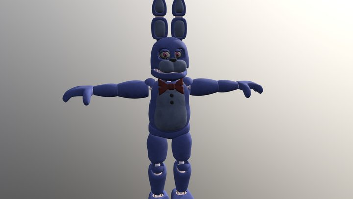 Unwithered Bonnie By Coolioart FBX 3D Model