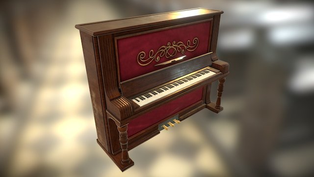 Old Piano 3D Model