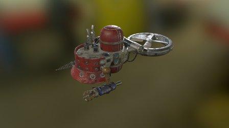 Tech Worker 3D Model