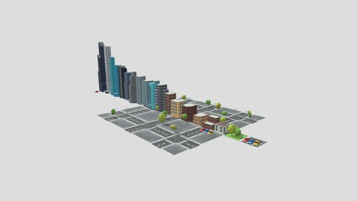 city background 3D Model