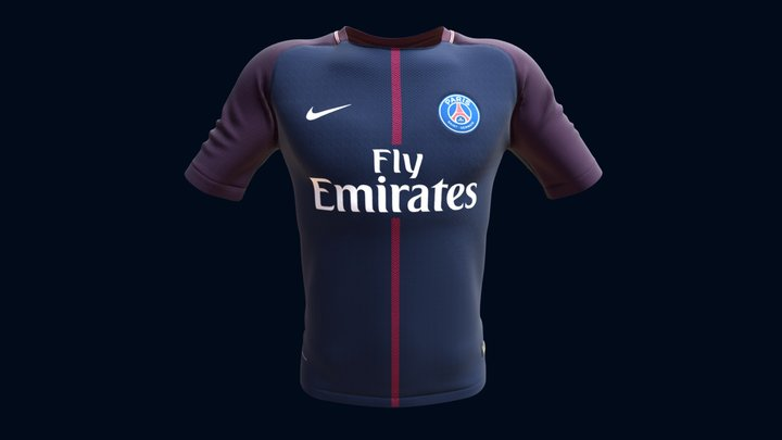 PSG - Jersey Home - 2017 18 3D Model