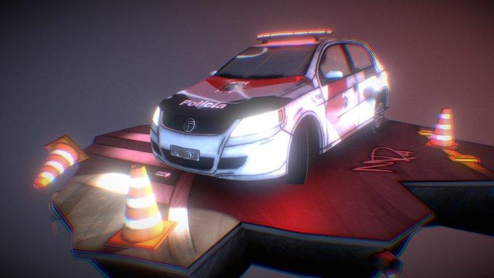 Police Car - Volkswagem Gol 3D Model