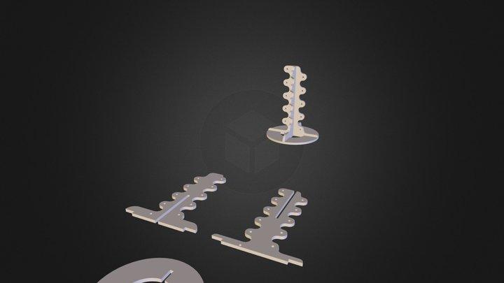 5800mhz antenna frame 3D Model