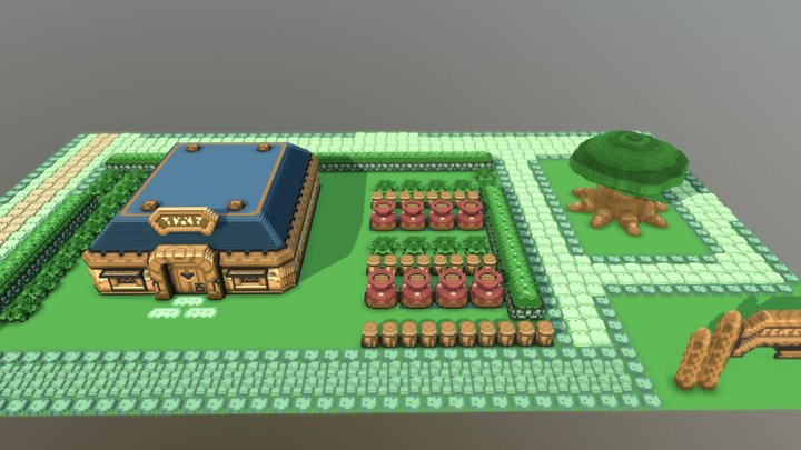 [Voxel] Link to the Past - The Inn 3D Model
