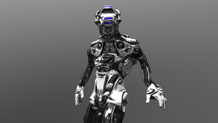Cyber Soldier Animation 3D Model