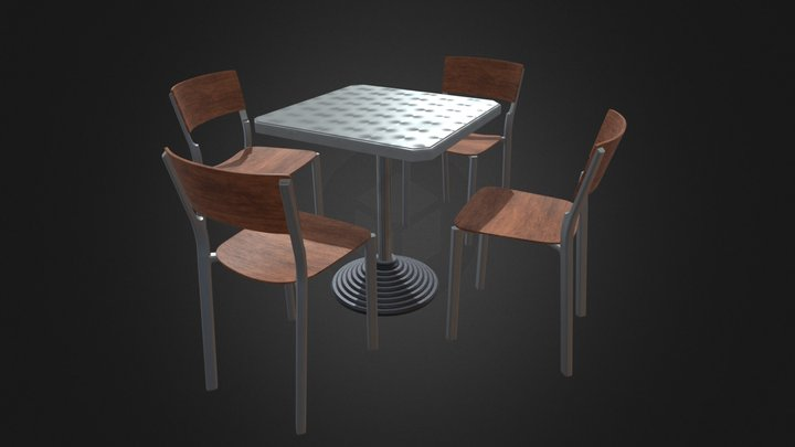A table and some chairs 3D Model