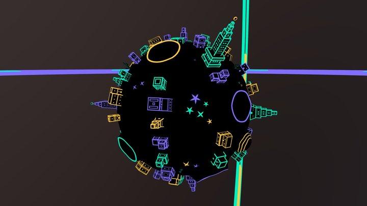Lumivers - Monde 3 3D Model
