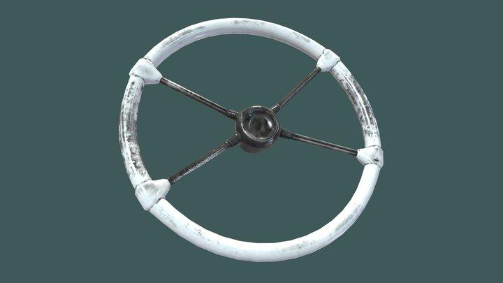 50's Stock Car Steering Wheel 3D Model