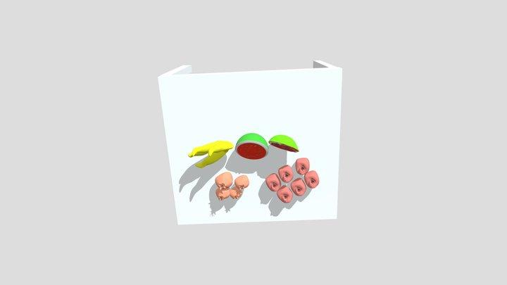 Bananas And Grenades 3D Model