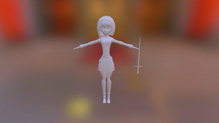 Arya Stark 3D Model