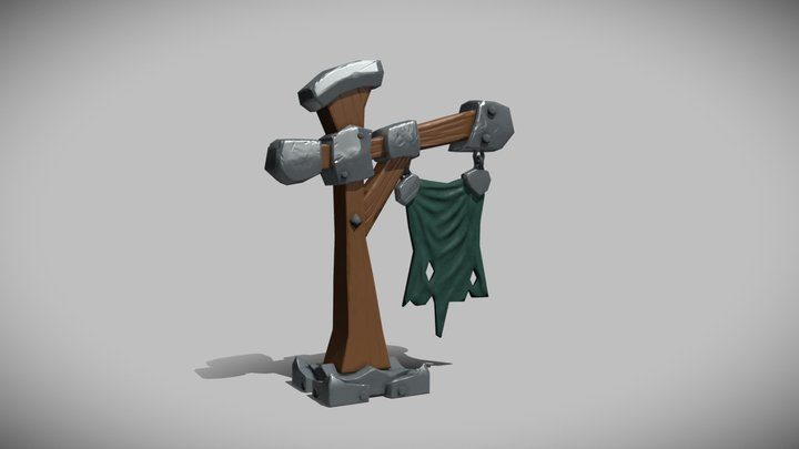 Low Poly Game Asset 3D Model