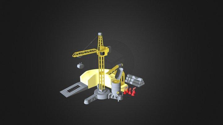 Crane Toy 3D Model
