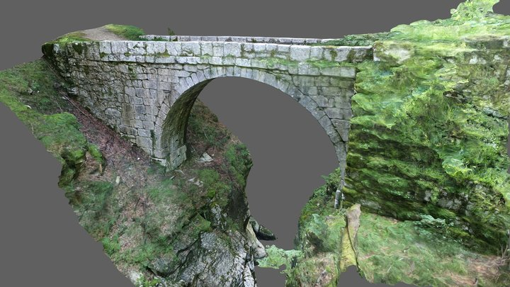 Pont Perent, Chartreuse, France 3D Model