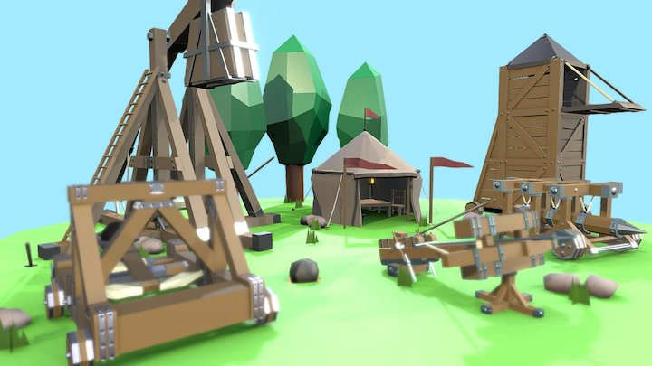 Siege Equipment - Medieval Fantasy Challenge 3D Model