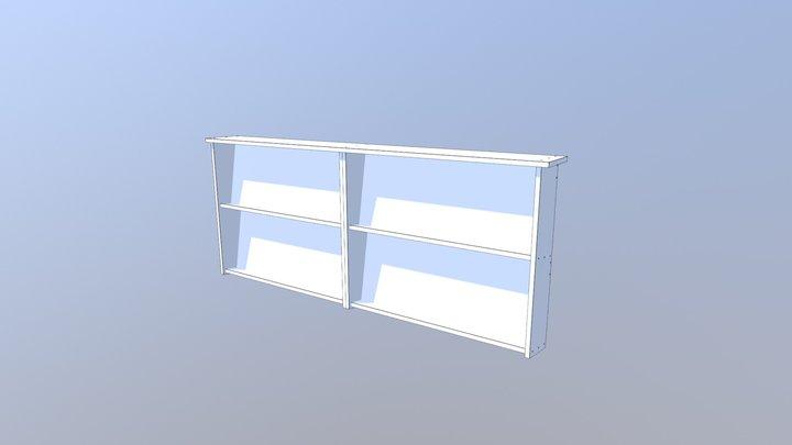 Bookshelf - wall mounted 3D Model