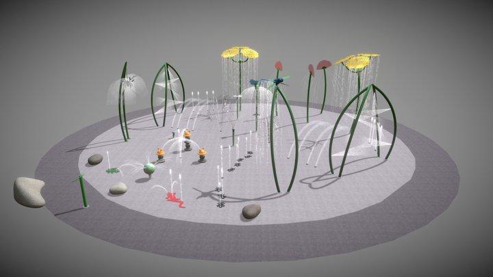 Waterplay FS Design - Grasslands 250sqm 3D Model