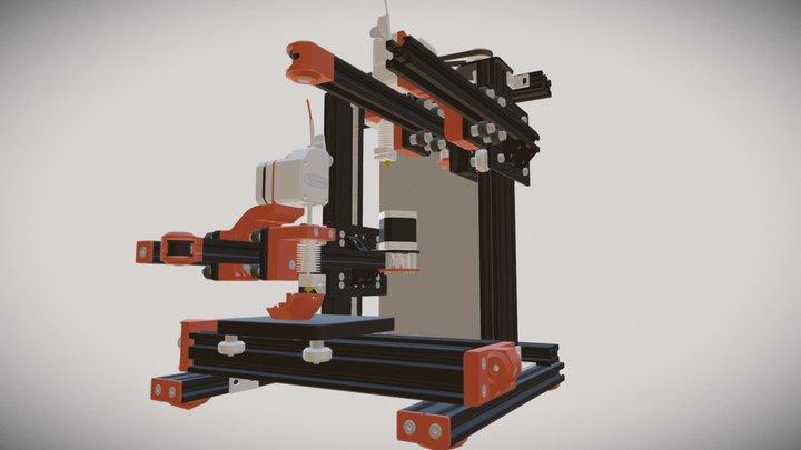 ZideX 3D printer 3D Model