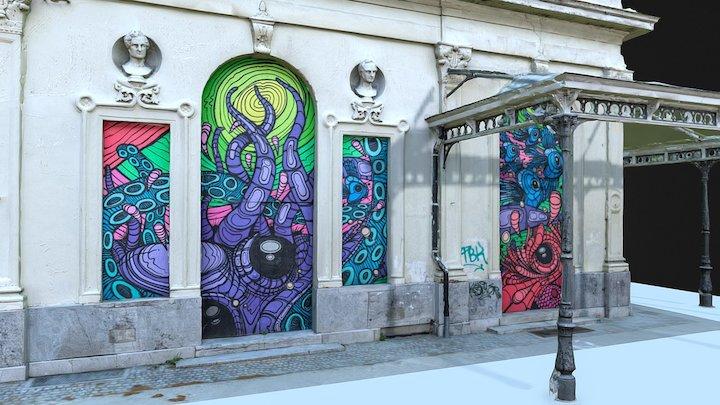 Street Art: Harmoniepark (low poly) 3D Model