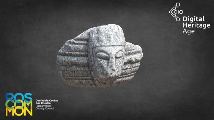 Rahara - Carved Head and Font 3D Model