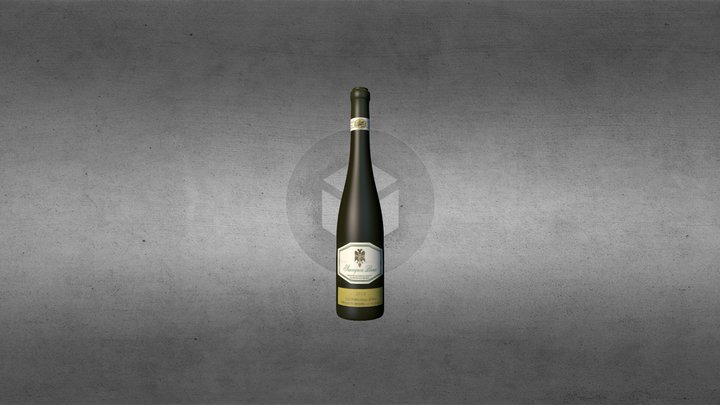 wine bottle sauvignon blanc kraljevska vinarija 3D Model