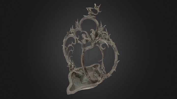 """Tree of Heaven"" hanging oil lamp 3D Model"