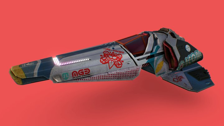 Wipeout XT - anti-gravity offroad racing: Feisar 3D Model