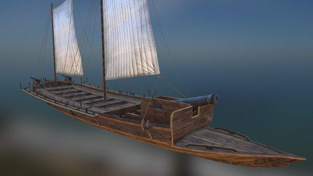 Russian Gunboat 3D Model