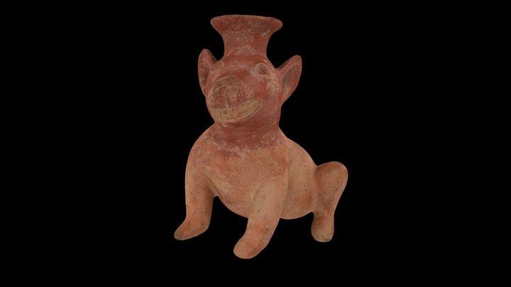 Seated Colima Dog 3D Model