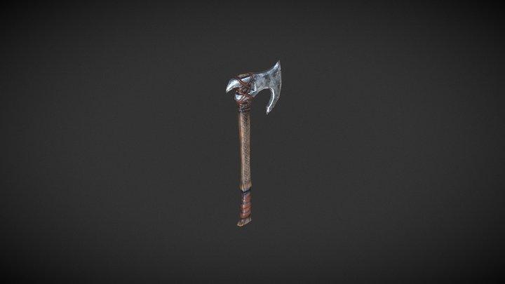 Viking Hatchet Axe 3D Model