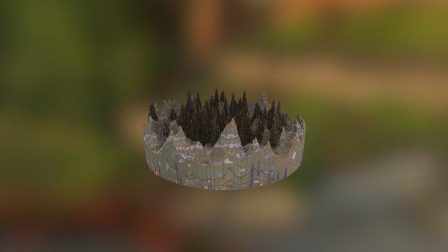 pine forest mine 3D Model