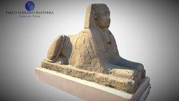 Esfinge del templo funerario de Hatshepsut 3D Model