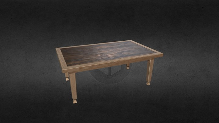 Simple Wooden Table 3D Model