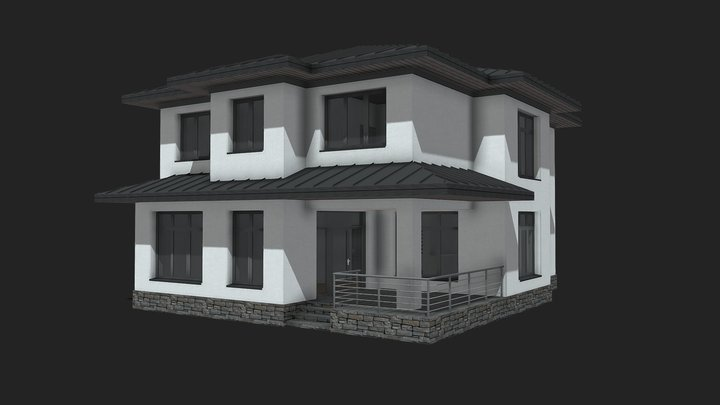 Жилой дом 1 0 3D Model