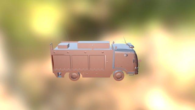 Vehículo De Bomberos Mercedes Benz 3D Model