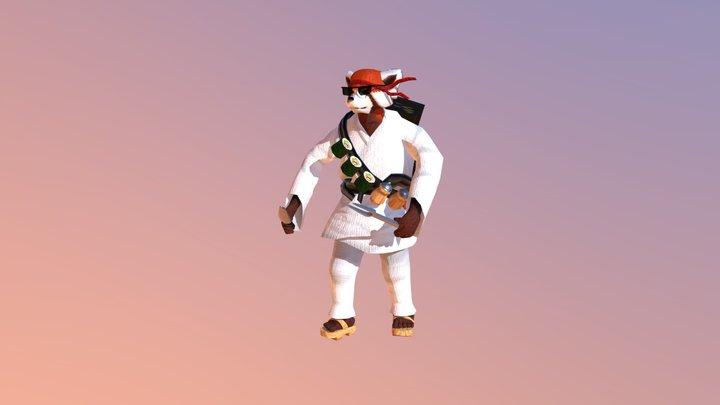 Kung Furry 3D Model