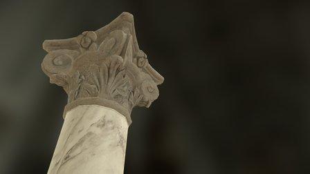 Spanish Corinthian Column 3D Model