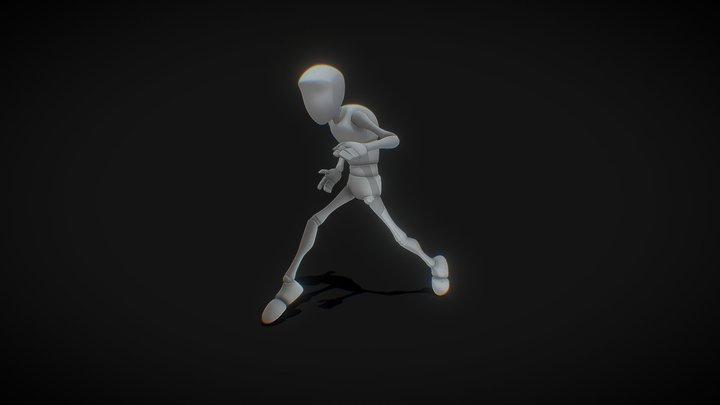 Bony Sneaky Walk Cycle 3D Model