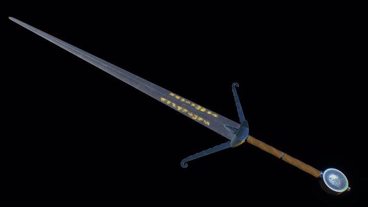 Witcher Sword 3D Model