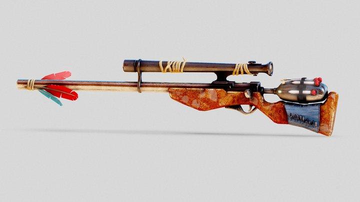 Stylized-Dart-Sniper 3D Model
