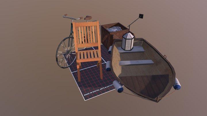 QWEEK 5 props 3D Model