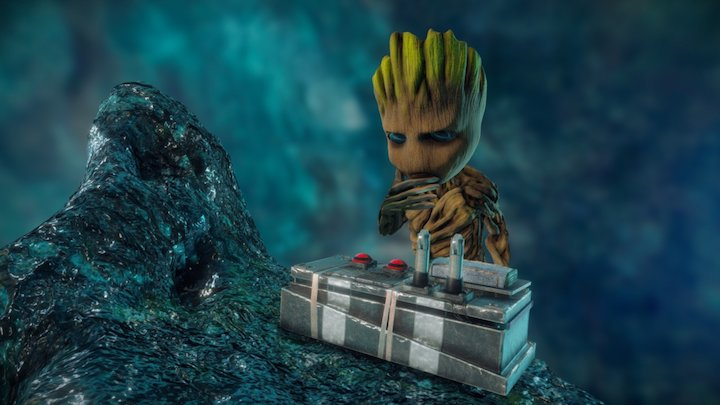 Guardians of the Galaxy Baby Groot 3D Model