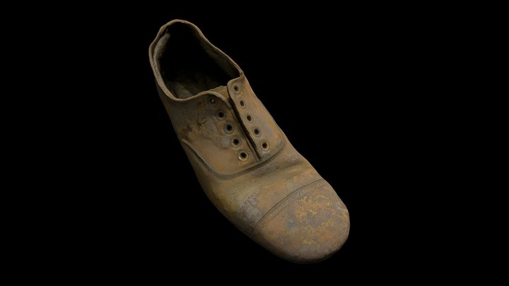 Shoe retrieved from the wreck of SS Gairsoppa. 3D Model