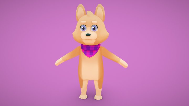 Corgi 3D Model