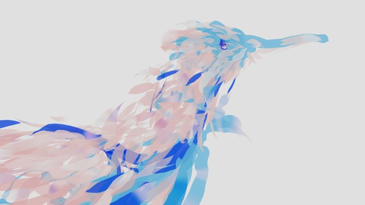 Peony bird 3D Model